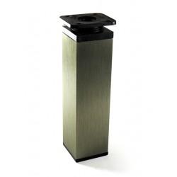 Kwadratowa stopka z aluminium 40x40 inox