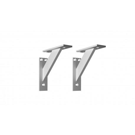 Nowoczesny! Aluminiowy! 3-częściowy kątowy wspornik podpórka do półek - 2 sztuki (120x120mm)