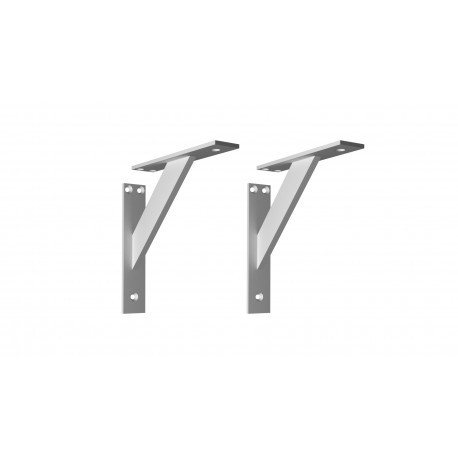 Nowoczesny! Aluminiowy! 3-częściowy kątowy wspornik podpórka do półek - 2 sztuki (180x18mm)