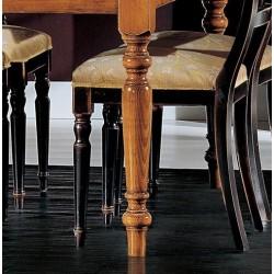 Noga drewniana do mebli stołów krzeseł Louis Philippe COUNTRY F990041
